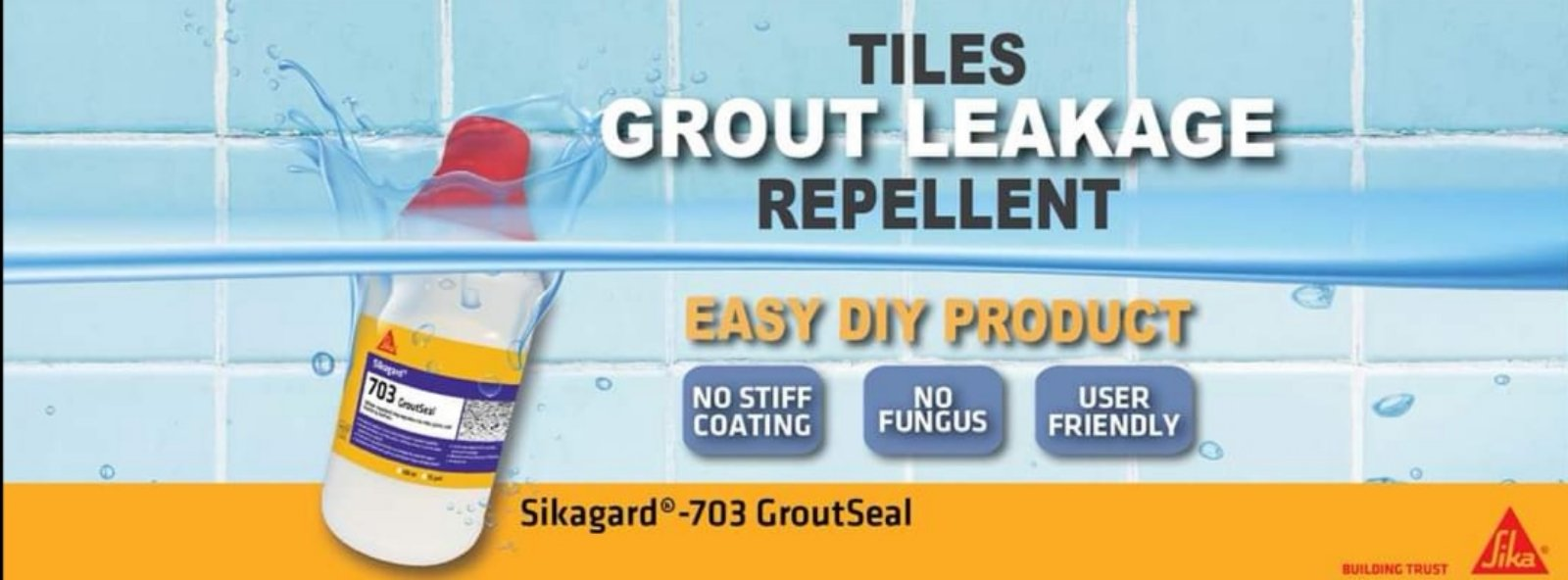 SIKA  tile grout repellant