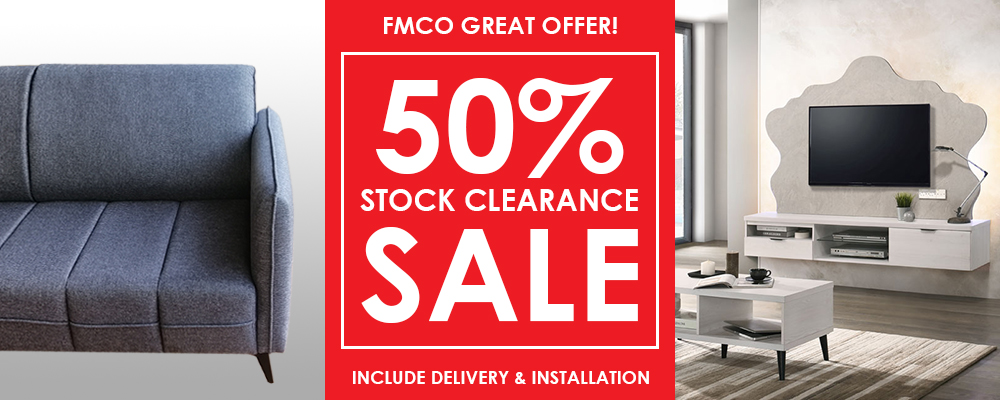 50% STOCK CLEARANCE SALE