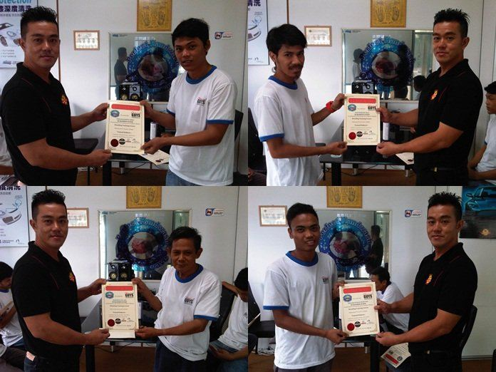 Detailing Course Certificate Presentation For Alam Damai,KL Employees