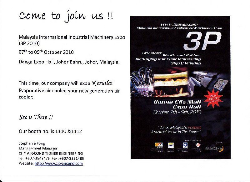 Malaysia International Industrial Machinery Expo (3P 2010)