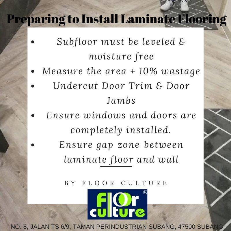 Preparing to Install Laminate Flooring