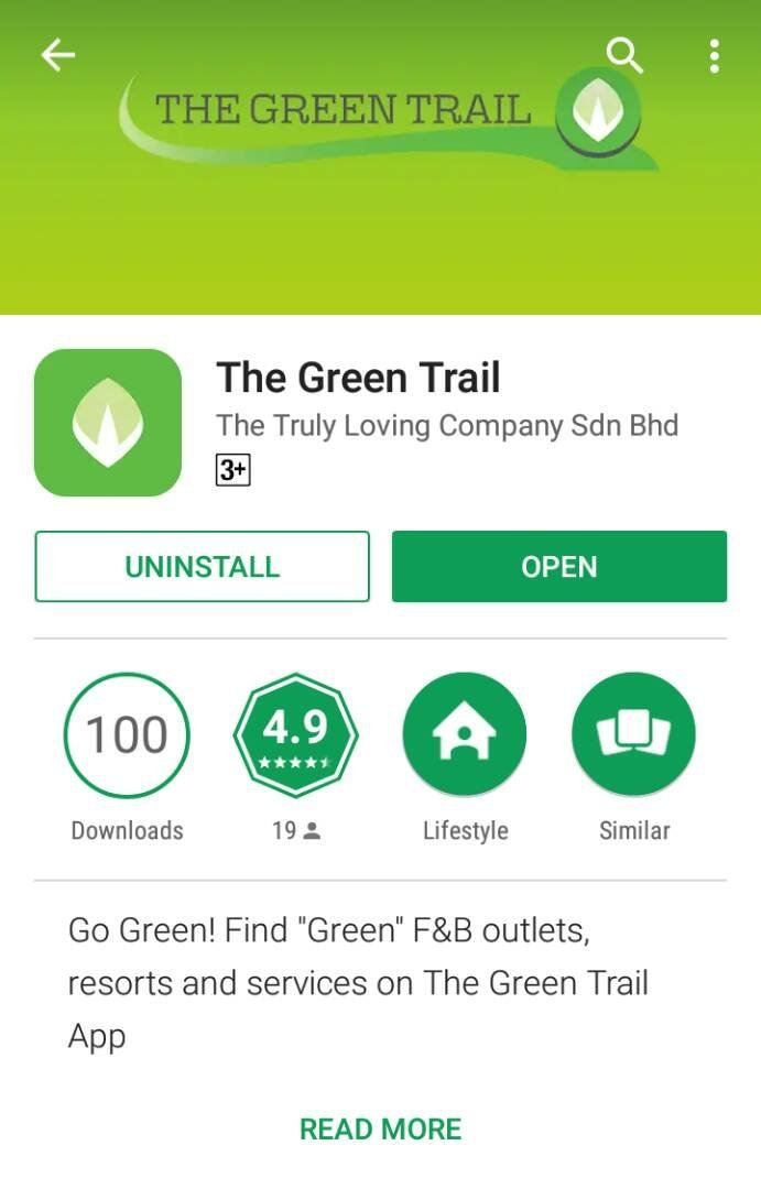 "Pertubuhan Amal Seri Sinar has listed on The Truly Loving Company Sdn Bhd's ""The Green Trail"" App"