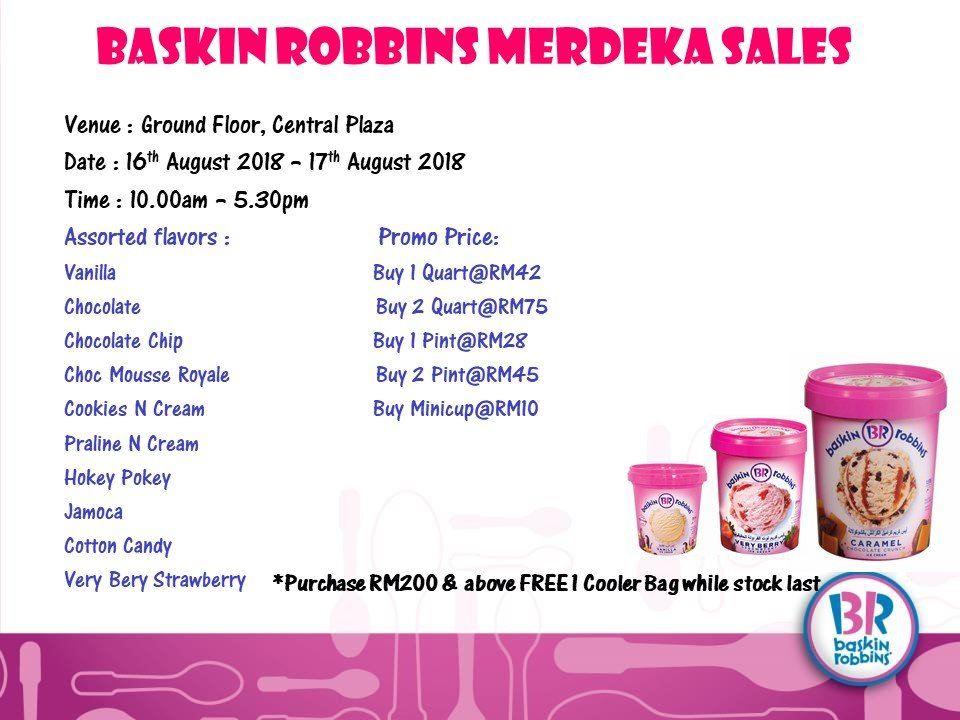 Baskin Robbins Promotion