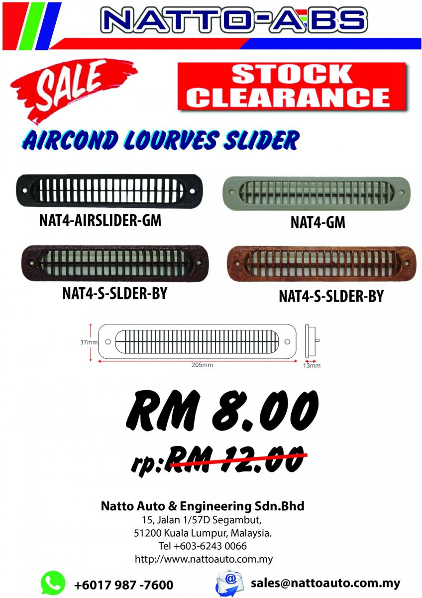 Clearance Stock Promotion - Air-Cond Slides