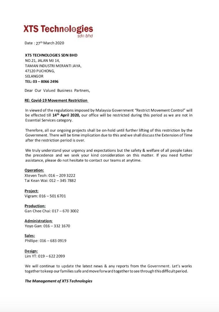 MCO Malaysia Extend