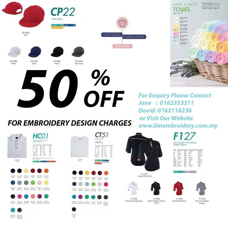 50% Off for Embroidery Design