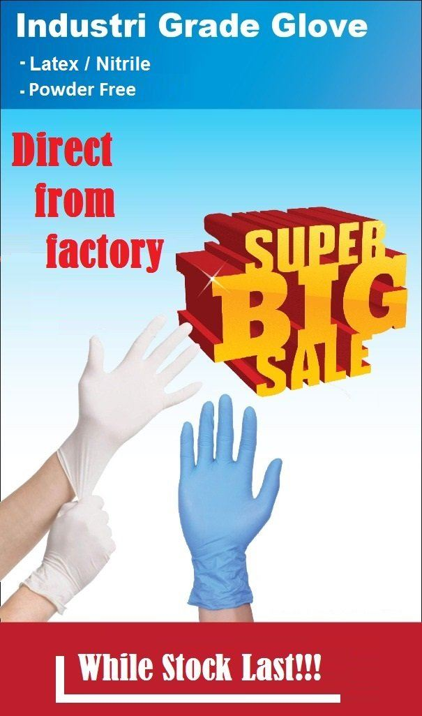 [HOT DEAL! READY STOCK!!!] Latex/Nitrile Industry Glove