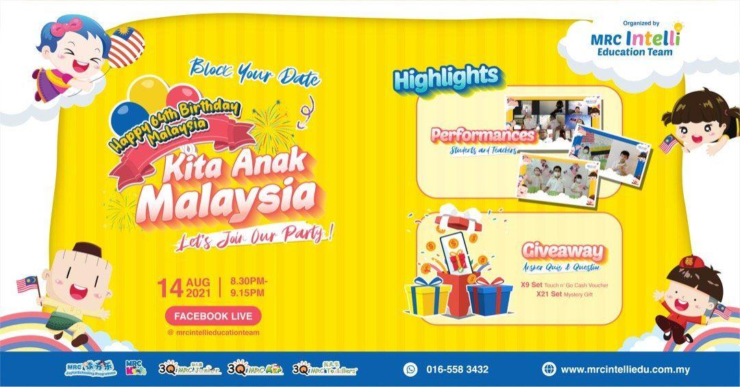 Kita Anak Malaysia - MRC Intelli Education Team Merdeka Celebration