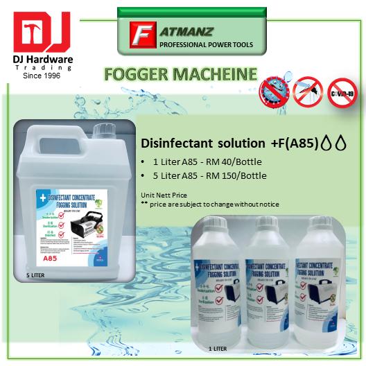 DISINFECTANT SOLUTION +F A85 1 Liter /5 Liter