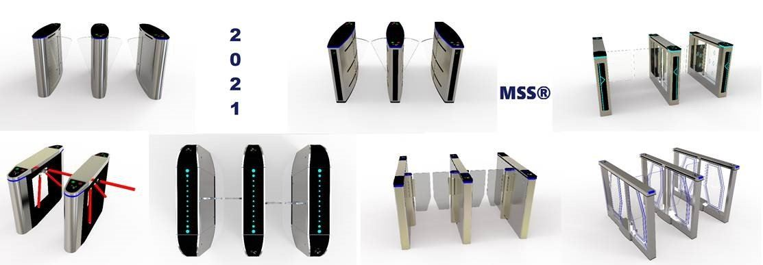 MSS turnstiles technology for public ideal pedestrian access control solution.