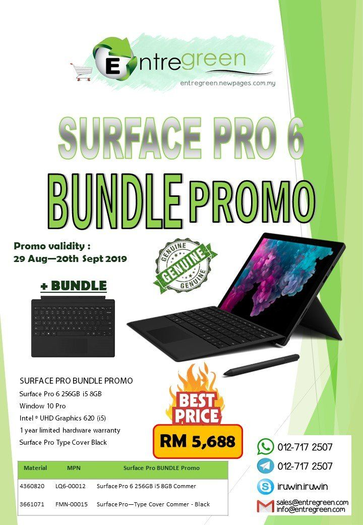 Microsoft Surface Pro 6 BUNDLE Promo