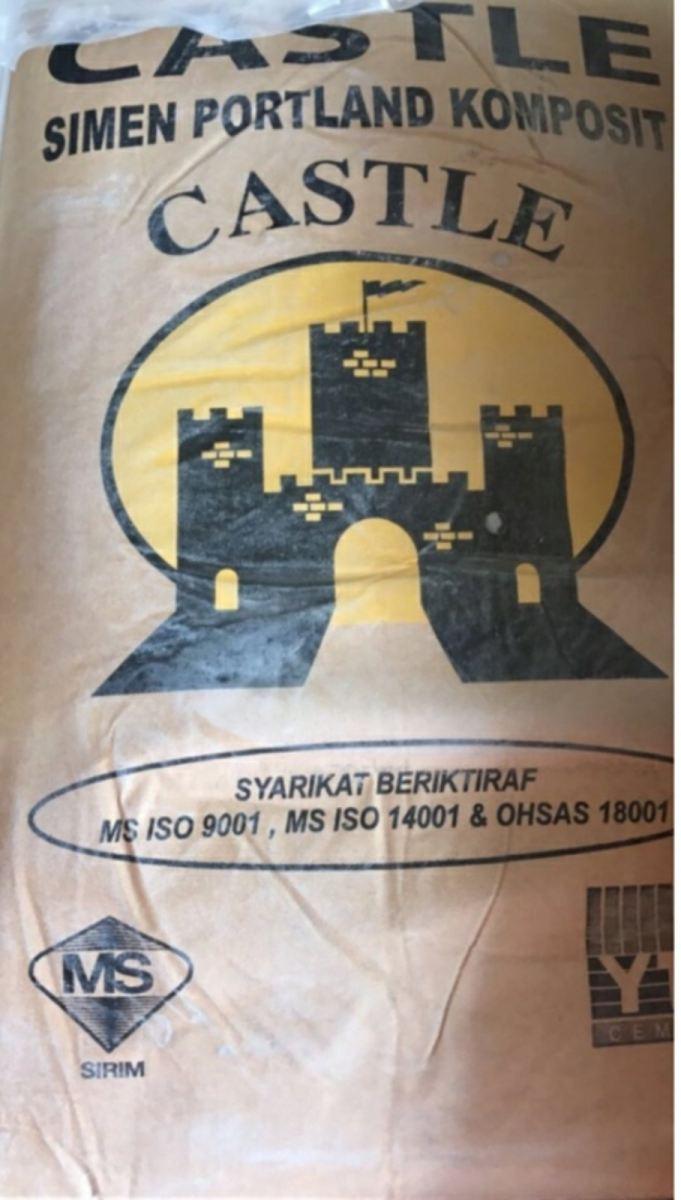 YTL castle cement PCC 50 KG