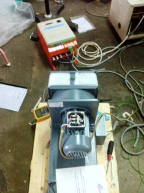 MOGEN MORRIS DC CONTROLLER( DC DRIVE ) TESTING WITH THE 15KW DC MOTOR (PIC 1)