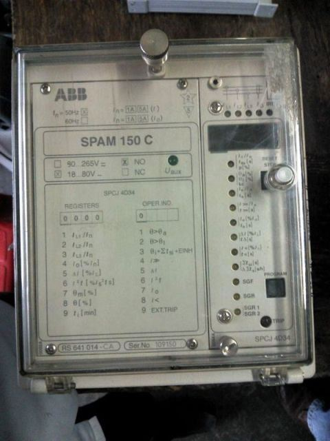 ABB MOTOR PROTECTION RELAY SPAJ140C SPAJ 140C SPAM150C SPAM 150 C REPAIR MALAYSIA