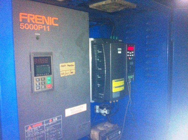 FUJI FRENIC 5000P11 INVERTER REPLACE TO MOGEN MORRIS A8000 PLASTIC BLOW MACHINE JOHOR MALA