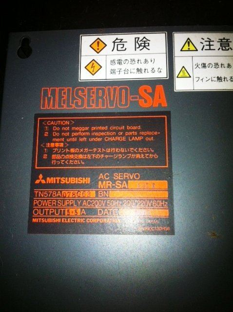 MITSUBISHI AC SERVO MELSERVO-SA MR-SA TN578A AC200V REPAIR MALAYSIA INDONESIA SINGAPORE