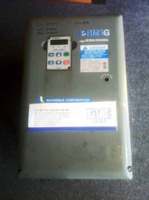 RHYMEBUS CORPORATION AC MOTOR CONTROLLERS RM5G RM5G-4025 RM5G-4030-4040-4050-4060 SARAWAK MALAYSIA