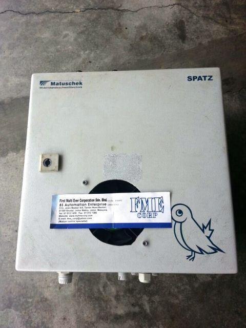 MATUSCHEK WIDERSTANDSSCHWEIBTECHNIK SPATZ H6000 M300 WELDING CONTROLLER REPAIR MALAYSIA SINGAPORE
