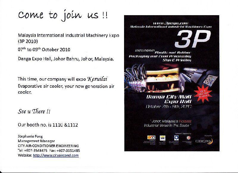 Malaysia International Industrial Machinery Expo (3P 2010)