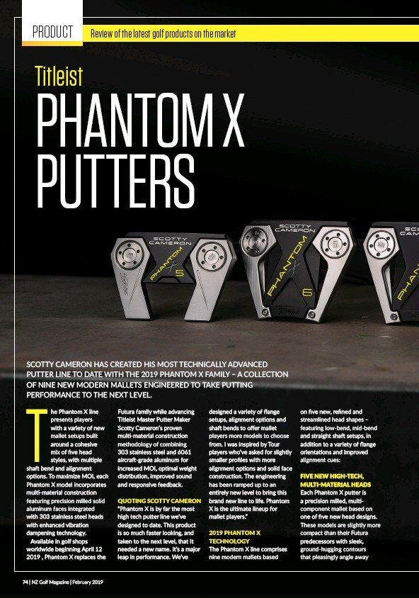LELONG - PHANTOM X PUTTERS
