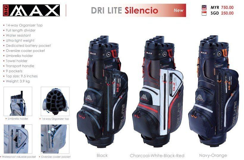 BIGMAX DRI LITE SILENCIO CART GOLF BAGS AT VKGOLF ONLINE STORE ONLY!