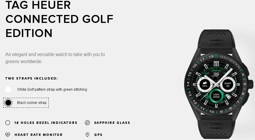 TAG HEUER CONNECTED GOLF EDITION BLACK LIMITED SERIES