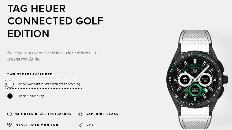 TAG HEUER CONNECTED GOLF EDITION WHITE LIMITED SERIES