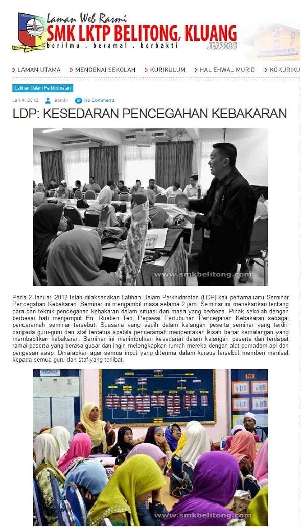 Seminar at SMK LKTP BELITONG, KLUANG