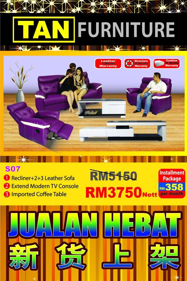 latest living hall set offer!! sofa + tv console + coffee table
