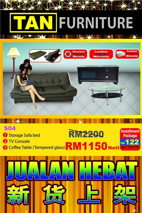 offer RM 1150 sofa + tv console + coffee table .