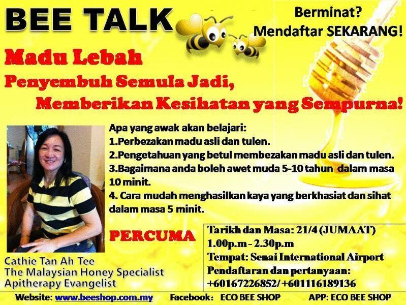 BEE TALK in Malay Version@ Senai International Airport JB