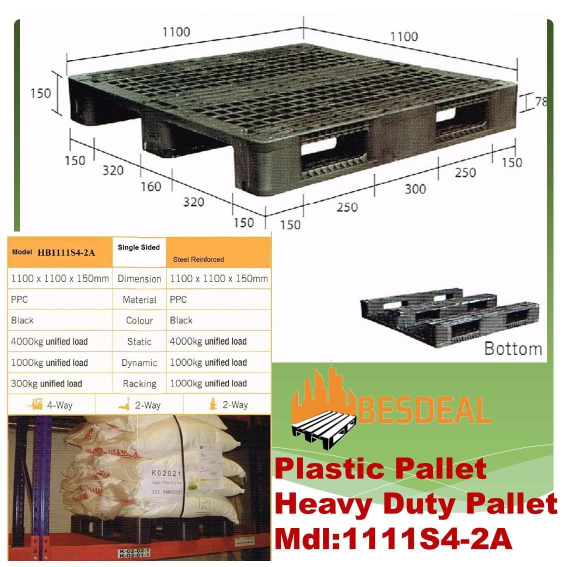 Heavy Duty Pallet, Mdl:1111S4-2A  For Sales Now��
