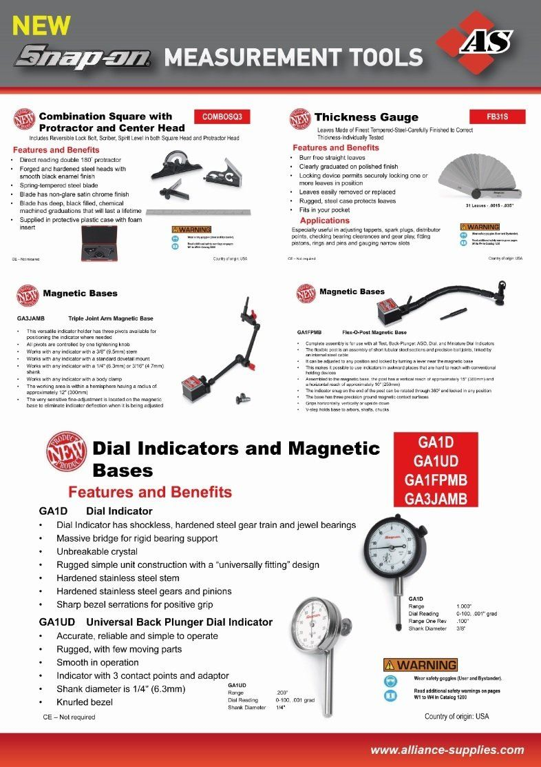 NEW! Snap-ON Measurement Tools