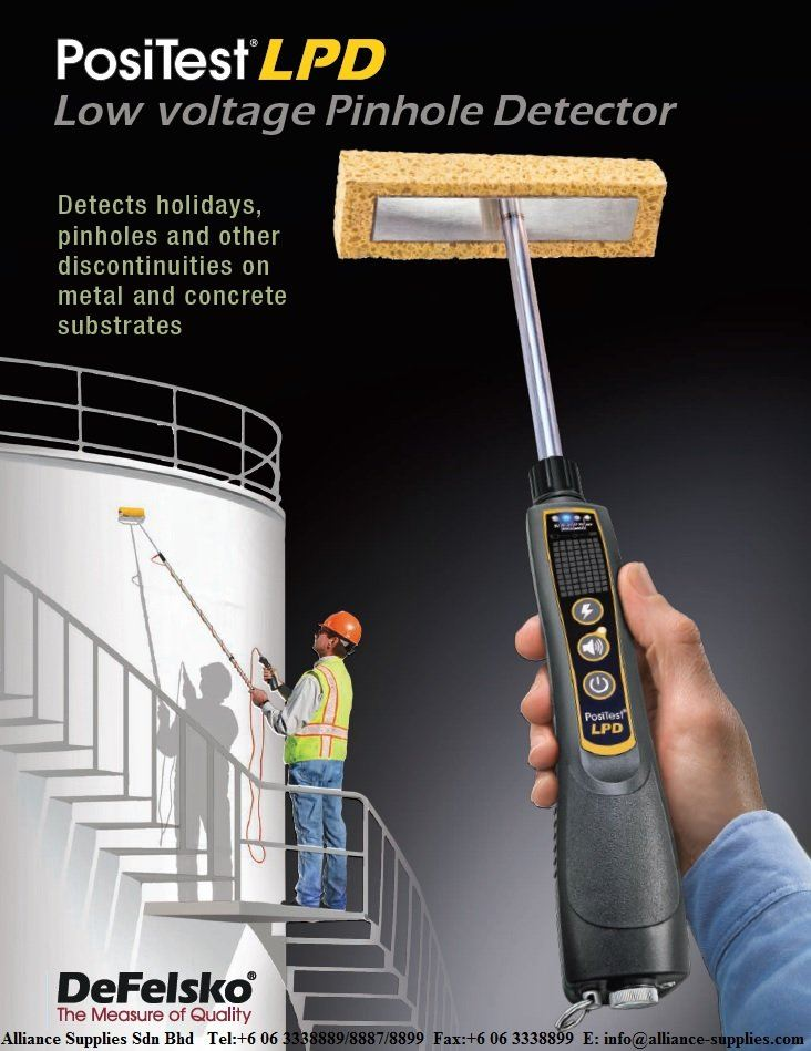 Defelsko PosiTest LPD-Low Voltage Pinhole Detector (Detect holidays, pinholes & other on metal & concrete surface)