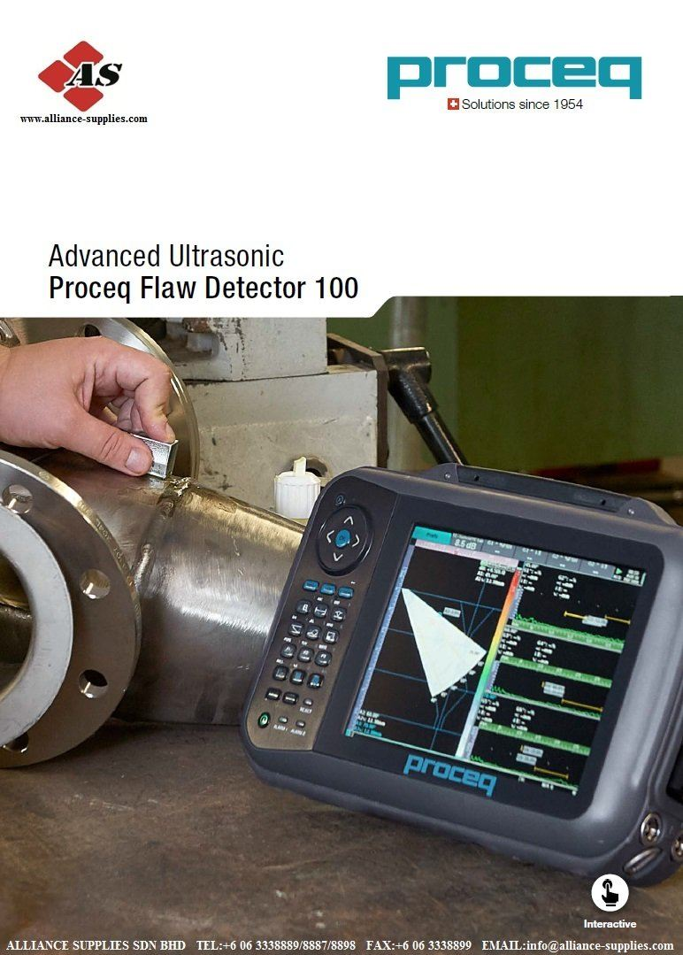 PROCEQ Advanced Ultrasonic Flaw Detector 100 (LEMO / BNC)