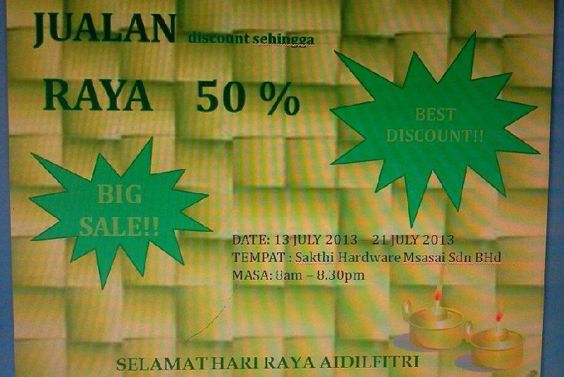 HARI RAYA BIG SALE IN MASAI