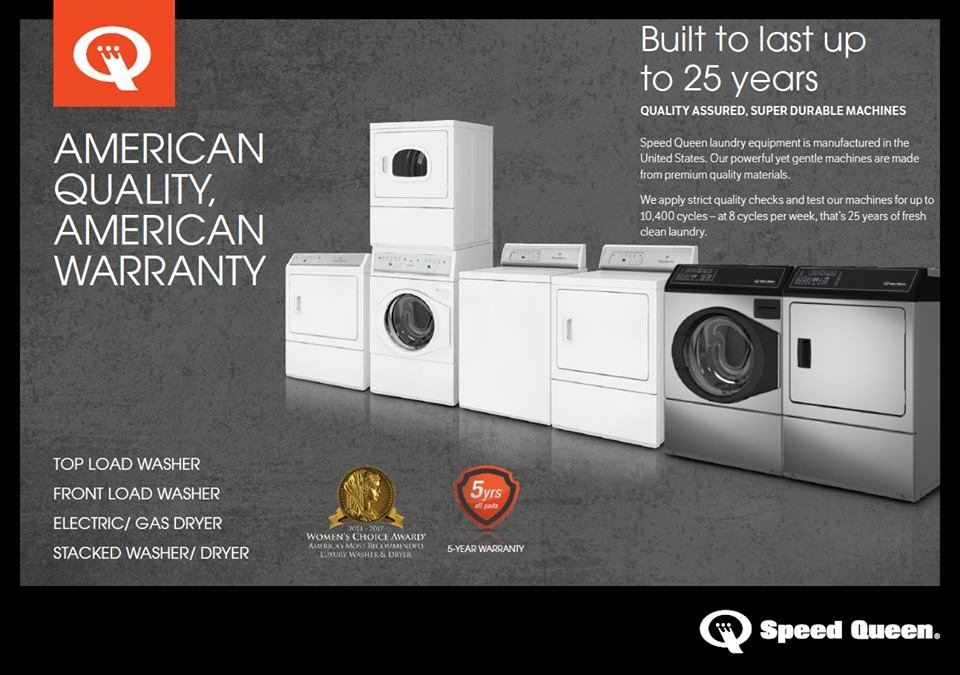 New Arrival: Speed Queen Large Capacity Washer / Dryer