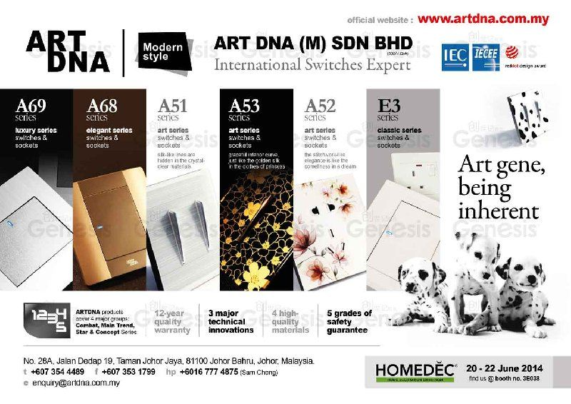 Find us in Homedec Persada 20-22 June 2014