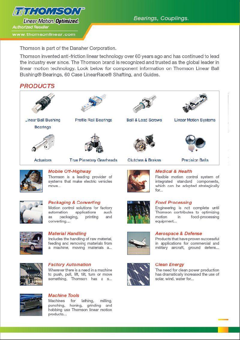 FEG is Authorized Reseller THOMSON Linear Bearings Couplings Malaysia Johor Penang Melaka Selangor