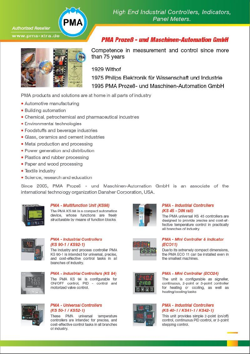 FEG is Authorized Reseller PMA Industrial Controllers Malaysia Johor Penang Melaka Selangor