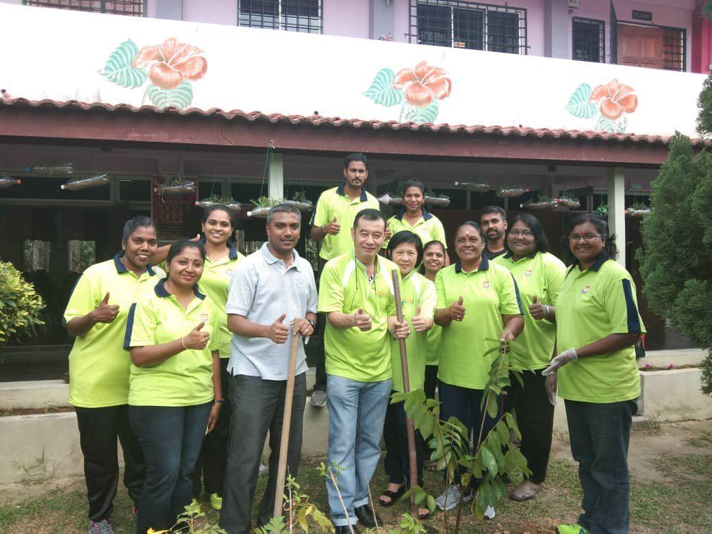11.08.2018 Plant A Tree at SJKT Ladang Rinching