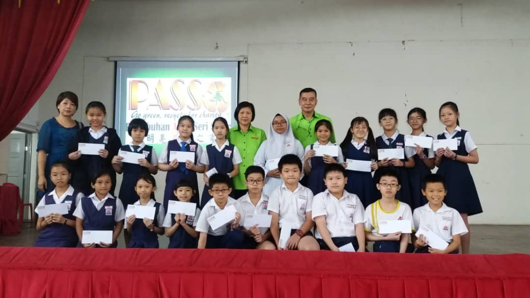 17.09.2019 Study Aid donation RM200 to 145 needy children from 7 Primary School in Kepong Area.