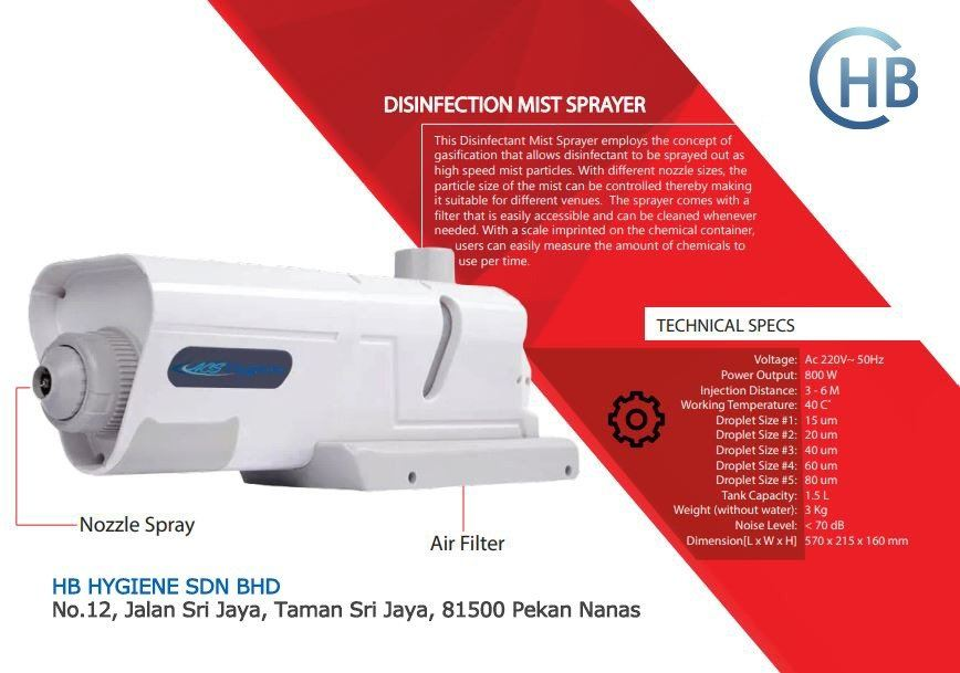 Disinfection Mist Sparayer