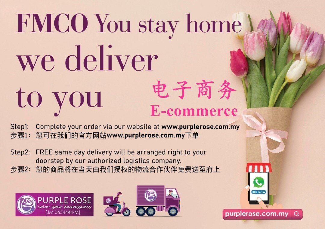 Color your expressions via our eCommerce platform during FMCO