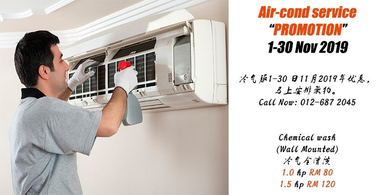 "Air-cond service ""PROMOTION 1-30 Nov 2019"""