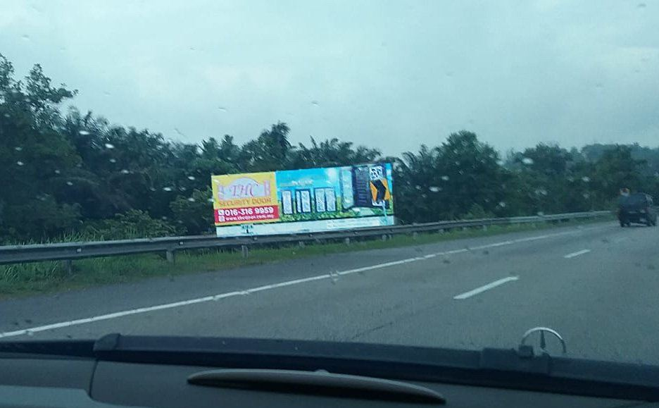 THC Security Door Billboard at Lembah Beringin Highway
