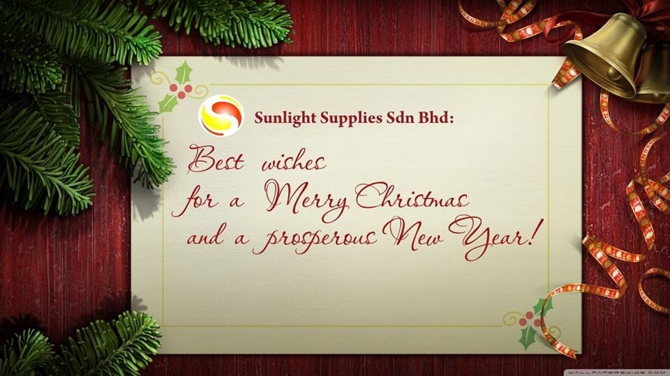 Sunlight Supplies Sdn Bhd wish you all have Merry Christmas