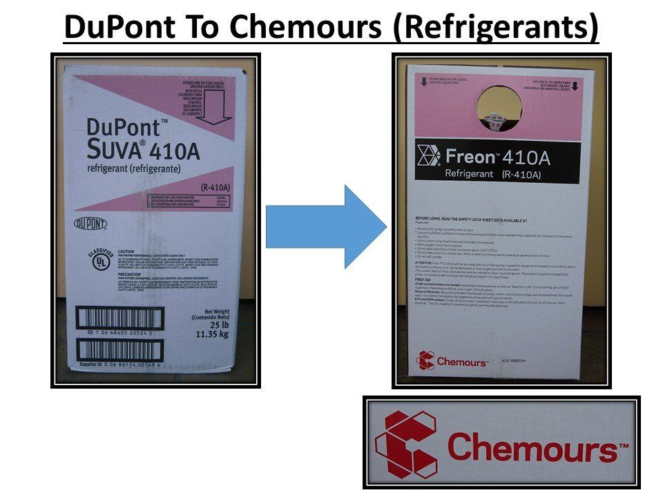 DuPont To Chemours Announcement With Refrigerant Brand Name