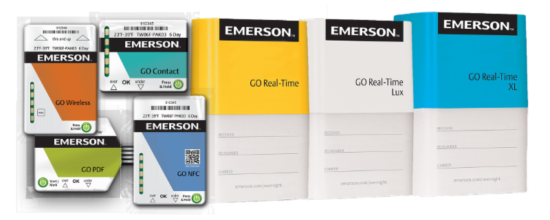 New Single Used Temperature Label & Online Tracker Logger From Emerson