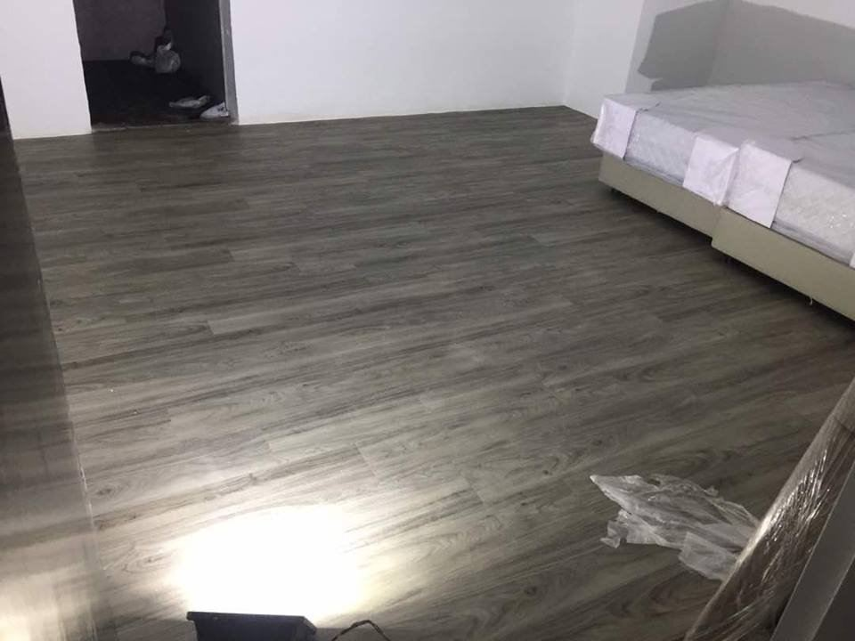 3mm Korea Vinyl Tiles - White Grey Rustic ( KV-3154 )